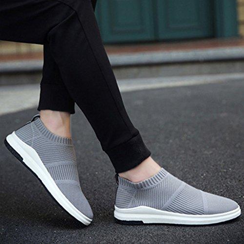 basse 40 da uomo Espadrillas pigro selvaggio sportivo Scarpe Black tela Gray stile di traspirante di stoffa scarpe tendenza uomo Color Scarpe uomo scarpe coreano di Size da casual da scarpe dfrxfOE