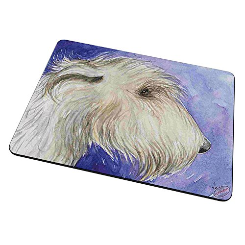 Mouse Pad Trivet Hot Plate - Irish Wolfhound on Purple Dog Art by Denise Every (Purple Hounds)