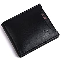 Hornbull Mens Black Rigohill Leather Wallet