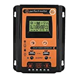 MPPT Solar Charge Controller 30A/50A, 12V/24V Solar Panel Battery Charging Regulator Dual USB LCD Display (30A)