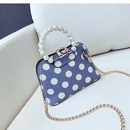 nbsp;blu nbsp; Modo Borsa Signore Blu Shell Handle Borse Bag Dot Messaggero Spalla Donne Fufufuchen Pearl Del Di Delle qa8Zwwgx