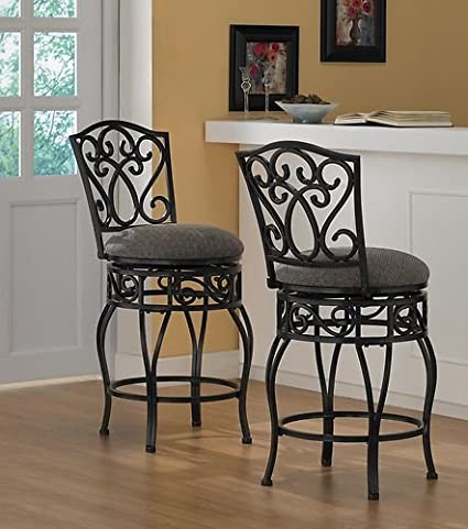 Chase 24 Inch 360 Swivel Counter Stools (Set Of 2)