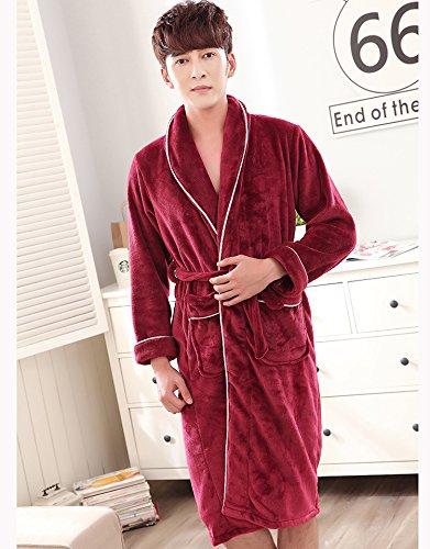 Wanglele Pijama Nightgow Invierno Hombres Y Mujeres Pijamas Otoño E Invierno Engrosada Collar Verde, Macho