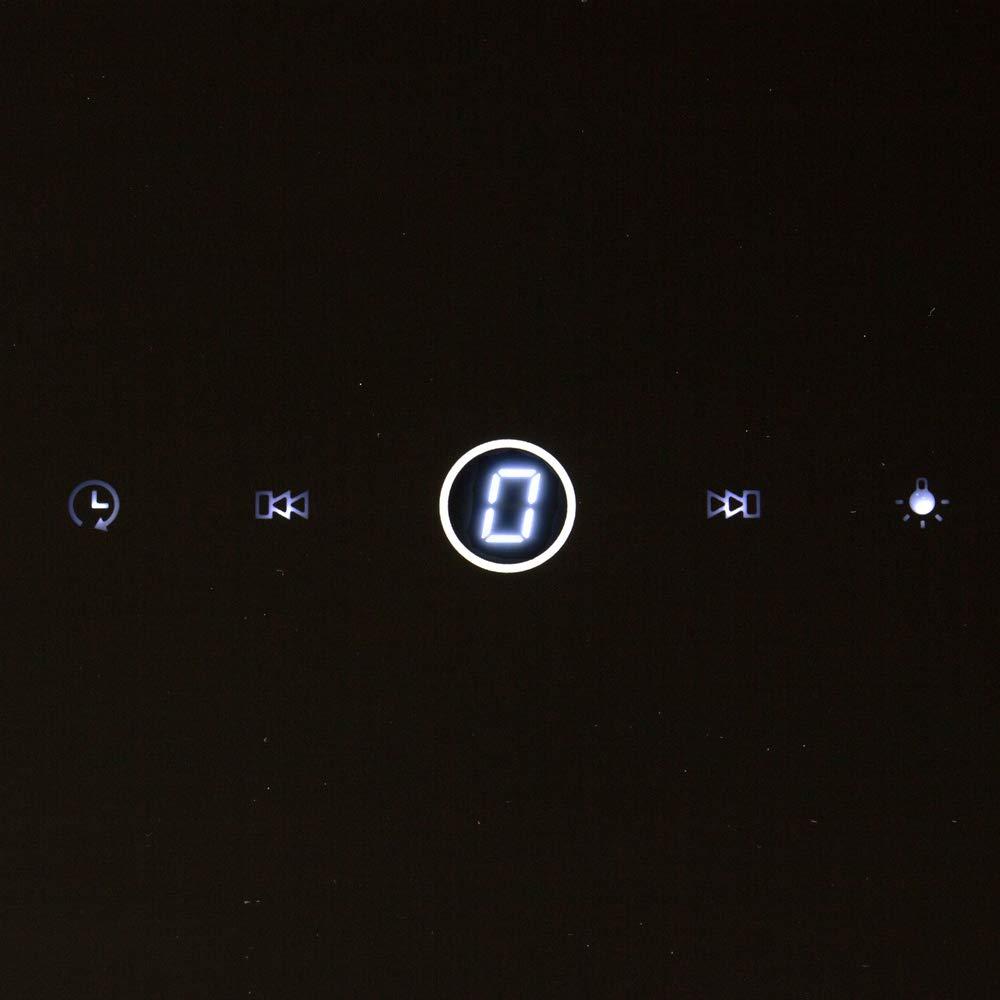 Cappa aspirante da cucina 80 cm, acciaio inox, vetro nero, extra silenzioso, 9 passi, illuminazione a LED, tasti sensore TouchSelect KKT KOLBE EASY809S