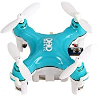 Mini Drone, Joso 6 Axis Gyro 360 Degree Rotation Smallest RC Quadcopter Toy RTF 4CH Headless Mood Flying with LED Light and Aerial Tumbling Skills, Speed Up, 360 Degrees Spin, Slow Down - Blue