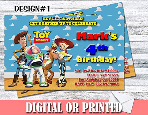(Toy Story Personalized Birthday Invitations More Designs)