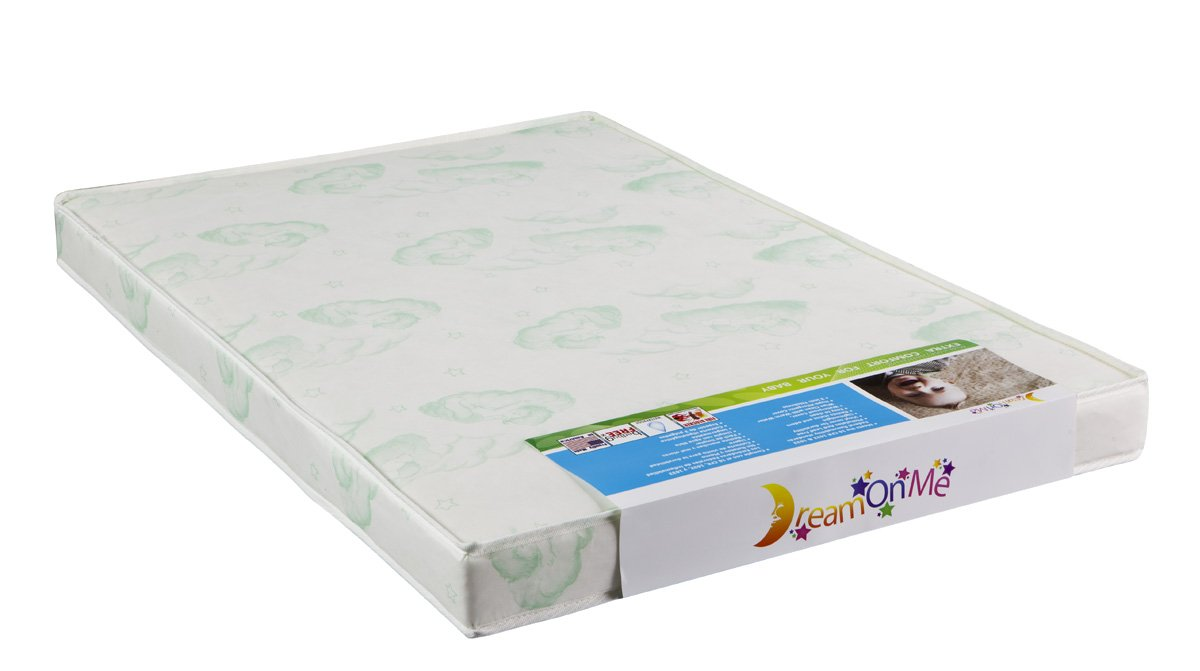 "Amazon.com : Dream On Me 3"" Playard Mattress, White : Portable Crib  Mattresses : Baby"
