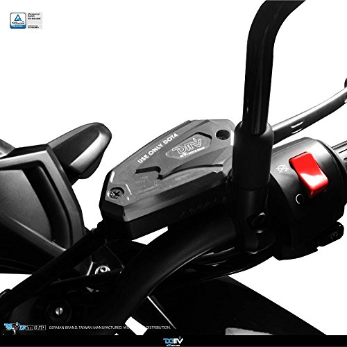 Dimotiv DMV Brake Fluid Reservoir Cap for Kawasaki ER6F 2009-2014 / ER6N 2009-2015 / Z800 2013-2014 / Versys650 2010-2015 (Titanium) by Dimotiv