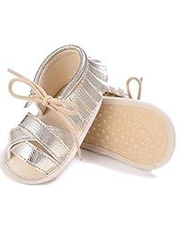 Summer Baby Sandals Tassel Anti-Slip Crib Shoes Soft Sole Prewalker