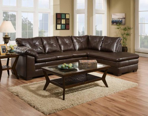 Chelsea Home Furniture Rho 2-Piece Sectional, Freeport Brown