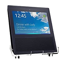 #1 Greenpointselect Acrylic Speaker Stand for Amazon Echo Show Smart Home Décor Guard Station Protection Holder For Alexa (Clear)