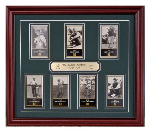 (The Masters Golf Tournament Champions From 1940 Through 1949 Professionally Framed With Jimmy Demaret Craig Wood Byron Nelson Herman Kaiser Claude Harmon Sam Snead Professionally Framed)