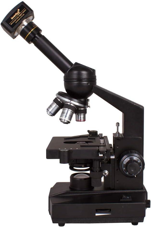 Microscopio Monocular Digital Levenhuk D320L 3,1M con un Aumento de 40–1600x y Cámara de 3Mpx con Software Especial