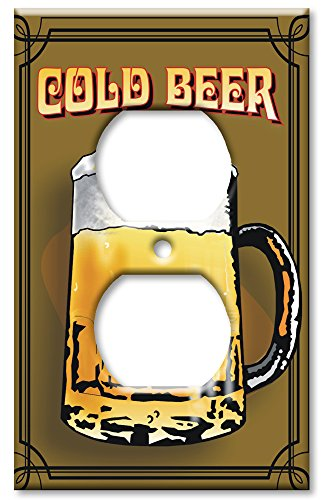 - Outlet Cover Wall Plate - Cold Beer