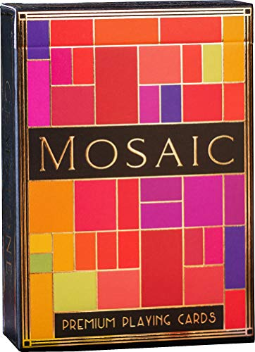 Mosaic Playing Cards, Elegant Embossed and Foiled Deck of Cards with Fully Custom Designs, Premium Card Deck, Cool Poker Cards, Unique Bright Colors for Kids & Adults, Card Decks Games