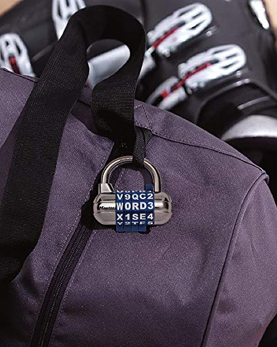 Master Lock 1534D Locker Lock Set Your Own Word Combination Padlock, 1 Pack, Assorted Colors