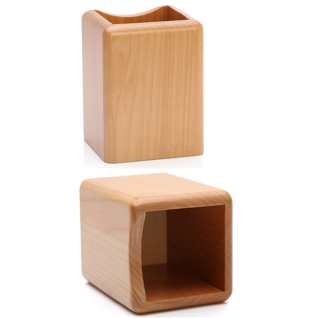 Aufbewahrungsbehälter-Schlichttischdesktopspeicherungs-Konsolidierungskastenlippenstift-Make-upbürstenspeichereimer des hölzernen Make-upwerkzeugs (größe     9911CM) B07D7RBYLL | Spaß  9229d0