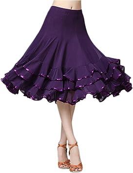 NFACE Elegant Ballroom Dance Falda de Baile Flamenco Latino para ...