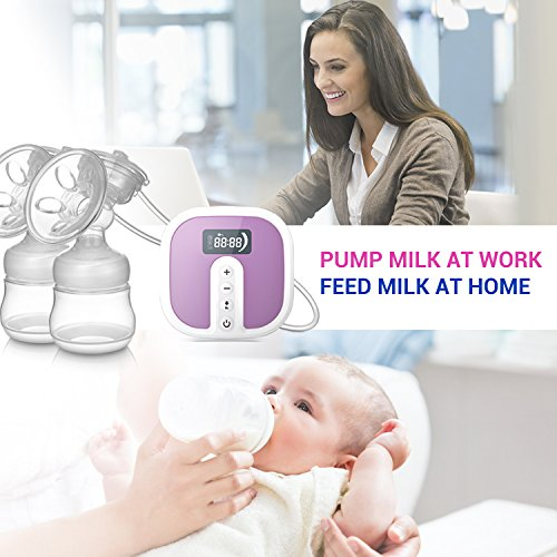 IKARE-Hospital-Grade-Double-Breast-Pumps-Electric-Portable-with-Most-Comfortable-45-Levels-Personalized-Intensity-Super-Quiet