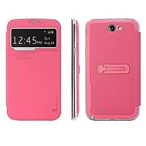 CASEPRADISE Carcasa Caso Cuero Tapa Cartera Funda Flip Cover Case Para Samsung Galaxy Note 2 N7100 Rosa