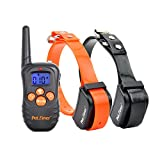 Petrainer 330 Yards Safe Remote Training E-collar PET998N Rechargeable and Waterproof 2 Dog ...