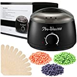 #8: Wax Warmer, ESARORA Hair Removal Waxing Kit Electric Hot Wax Warmer With 3 Different Flavors Hard Wax Beans Wax Applicator Sticks 3.5 oz Perfect for Home Waxing Spa for Face Arm Armpits Legs Bikini
