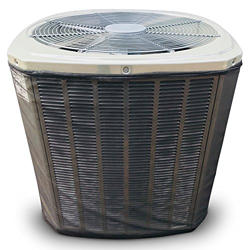(Custom All Season Mesh Air Conditioner Cover or Heat Pump Cover - for Your Exact Make and Model- Protection from Leaves, Debris, Cottonwood, Grass Clippings and More.3-Year Warranty Black)