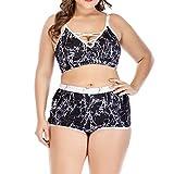 Womens Bikini Set, Sales! Women Plus Size High Waist Swimwear Swimsuit Push Up Padded Bikini Bathing Suits YOcheerful(A,3XL)