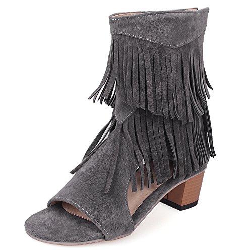Fashion Heel - sandalias mujer gris