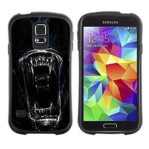 Paccase / Suave TPU GEL Caso Carcasa de Protección Funda para - Alien Face Close Up - Samsung Galaxy S5 SM-G900