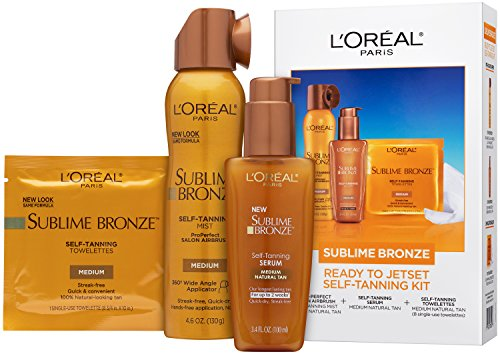 Price comparison product image L'Oreal Paris Sublime Bronze Self Tanner Best Sellers Jetset Kit, 1 kit