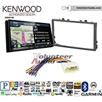Volunteer Audio Kenwood DNX874S Double Din Radio Install Kit with GPS Navigation Apple CarPlay Android Auto Fits 2006-2011 Honda Civic