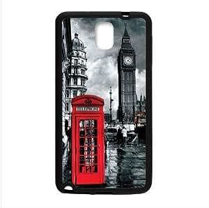 Customized Classic British London Red Telephone Box And Big Ben Samsung Galaxy Note 3 III TPU (Laser Technology) Case, Cell Phone Cover Kimberly Kurzendoerfer