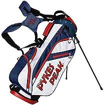 PYKES PEAK キャディーバッグ スタンド式【軽量 2.2kg 全6色 14本収納】 ゴルフバッグ【47インチ...