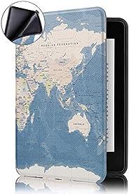 Capa Novo Kindle Paperwhite à Prova D'água WB® Ultra Leve Auto Hibernação Sensor Magnético Silicone Flexível M
