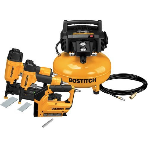 BOSTITCH U/BTFP3KIT Factory Reconditioned 3-Tool and Compressor Combo Kit