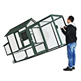 """100"""" Wooden Chicken Coop Hen Poultry House Ramp Run Nest Box Wheels Large by Discoverysun"""