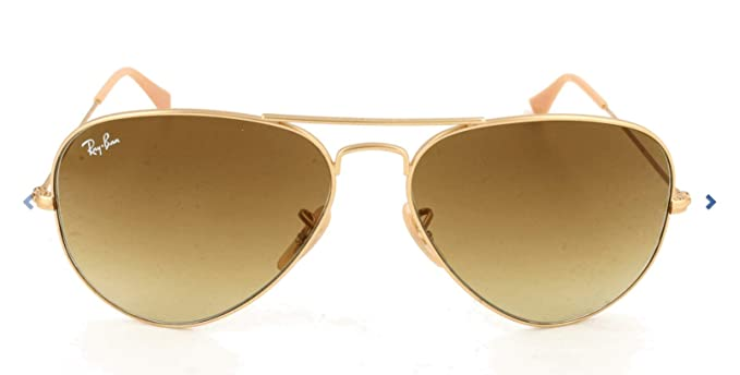 Ray-Ban Aviator Large Metal, Gafas de sol para Hombre, Dorado (Brown Gradient), 55