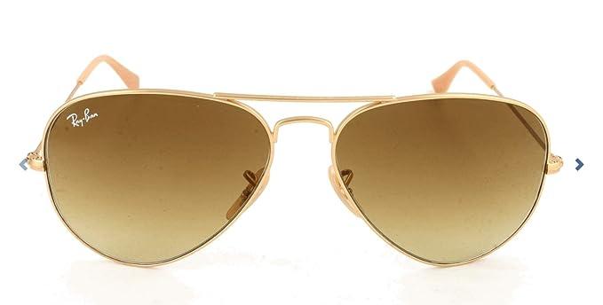 Ray-Ban Aviator Large Metal, Gafas de sol para Hombre, Dorado (Grey Gradient), 62