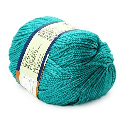 Joylive Wool Yarn Worsted Sweater Cashmere Knitting Yarn Soft Warm Baby 50g Peacock Green