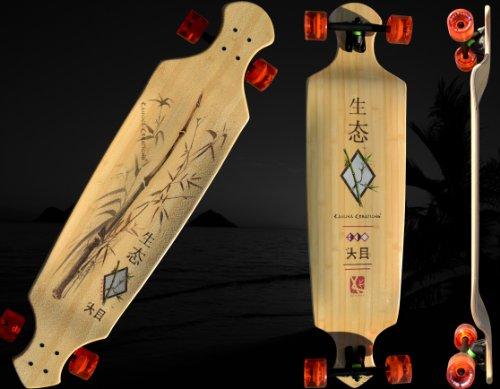 Kahuna Creations Bamboo Drop Deck Longboard Skateboard