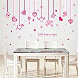 ASIBG Home Wall Stickers Can Remove Stickers Affixed Window Ornament Love Angel Wallpaper Adhesive 50×70Cm