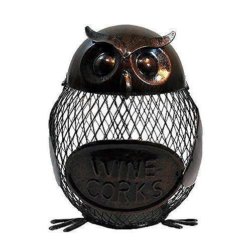 absolutely smart owl items. Metal Owl Wine Cork Holder Cute Decor  Amazon com