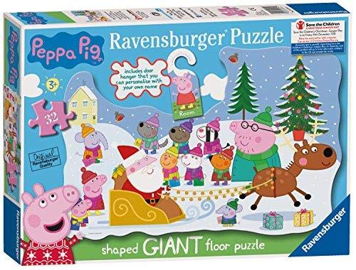 (Ravensburger 5534 Peppa Pig Christmas Jigsaw Puzzle with Door Hanger)