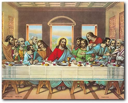 Jesuss Supper Religious Spiritual Poster