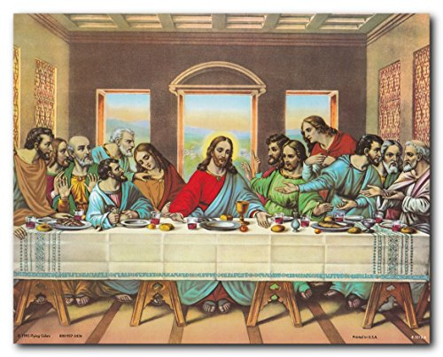 Wall Decor Jesus's Last Supper Religious & Spiritual Art Print Poster (16x20)