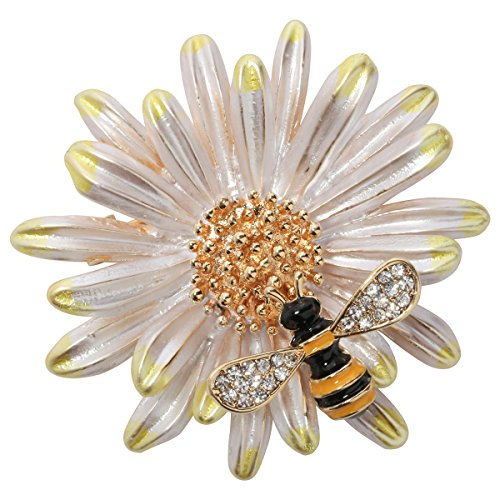 Szxc Jewelry Sun Flower Enamel Bee Insect Series Brooch Pin Accessories For Her Women