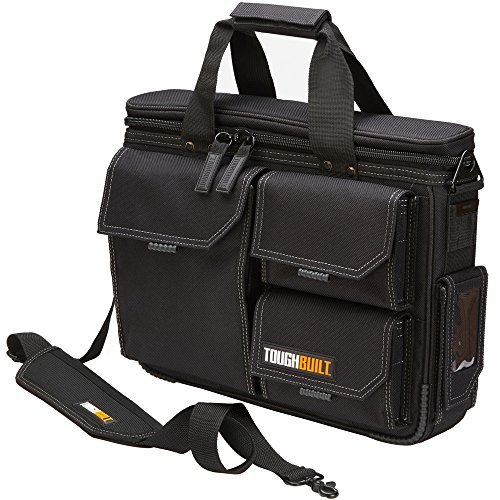 ToughBuilt - Quick Access Laptop Bag + Shoulder Strap, Medium, Rugged HardBody Construction with Protective Padding, Fits 13