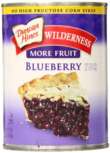 Wilderness More Fruit Pie Filling & Topping, Blueberry, 21 Ounce (Pack of 8)
