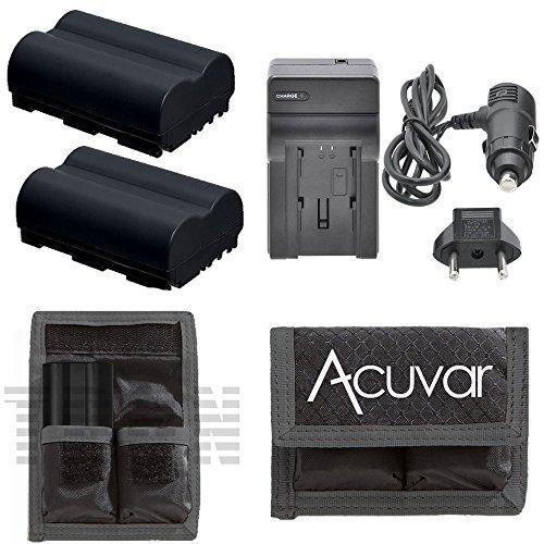 (2 BP-511 Camcorder Batteries + Car/Home Charger + Acuvar Battery Pouch for Canon FV100, FV200, FV30, FV300 KIT, FV300, FV40 KIT, FVM1, FVM10, IXY DVM, MV100Xi and Other Models)